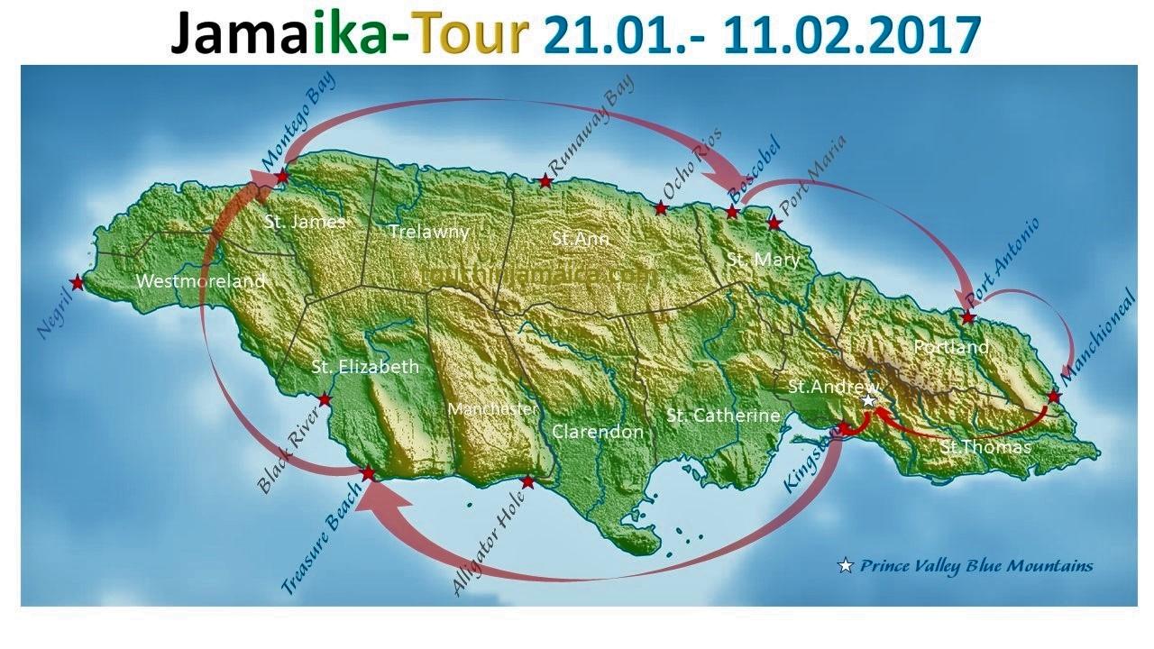 Tourverlauf 2017 Touchin' Jamaica